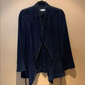 Vince navy linen blend blazer